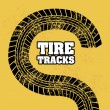 Tire tracks — Stockvectorbeeld