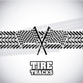 Tire tracks — Stok Vektör