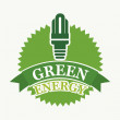 Green energy — Stock Vector