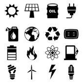 Icônes de l'énergie — Vecteur