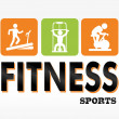 Fitness sports — Stock Vector