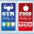 Stock Vector: Healthy life labels
