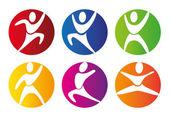 Boutons de gym — Vecteur