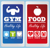 Healthy life labels — Stock Vector
