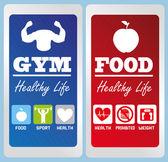 Healthy life labels — Stock Vector