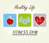 Hälsosamt liv — Stockvektor