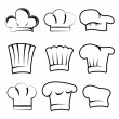 Stock Vector: Chef hats