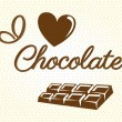 I love chocolate — Vector de stock #28532701