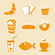 Stock Vector: Food icons