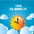 Stock Vector: Time summer