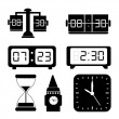 Watches icons — Imagen vectorial