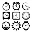 Watches icons — Stockvektor