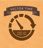 Time label — Stock Vector