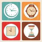Tijd pictogrammen — Stockvector