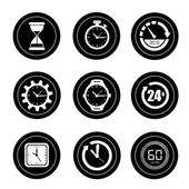 иконка часы — Cтоковый вектор