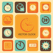 Clock design — Stock Vector