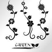 Garden design — Stock Vector