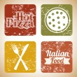 Pizza prints — Stock Vector