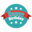 Happy birthday label — Stock Vector #28667015