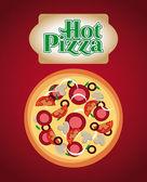 Conception de la pizza — Vecteur