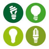 Bulbs design — Stock Vector