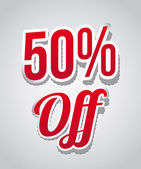 50 percent off — Vector de stock