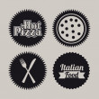 Pizza seals — Stockvectorbeeld
