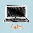 Stock vektor: Laptop design