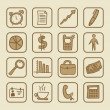 iconos sociales — Vector de stock
