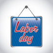 Labor day label — Stock Vector #28676689