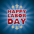 Stock Vector: Happy labor day