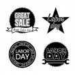 Labor day icons — Stock Vector