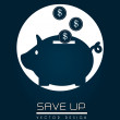 Save up — Stock Vector
