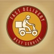 Stock Vector: Fast delivery