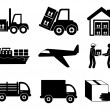 Transport icons — Wektor stockowy #29011139