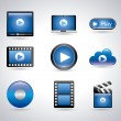 Stock Vector: Player movie icons