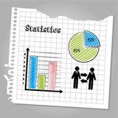 Statistics design — Stock Vector