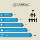 Arrows infographics — Stock Vector