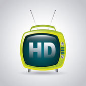 Tv hd — Vector de stock