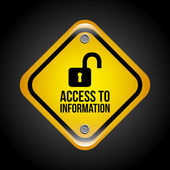 Access to information — Stock Vector