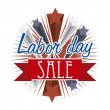 Labor day sale — Stock Vector