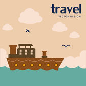 Diseño de viajes — Vector de stock