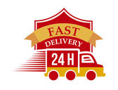 Fast delivery — Stock Vector
