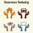 Insurance industry — Stock Vector
