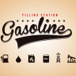 Gasoline label — Stock Vector
