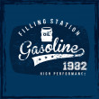 Gasoline label — Stockvectorbeeld