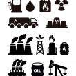 Fuel icons — Stockvectorbeeld