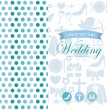 Wedding card — Vettoriali Stock