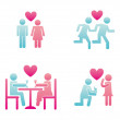 Couple design — Vector de stock