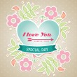 Love you — Stock Vector